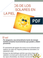Efectos de Los Rayos Solares en La Piel
