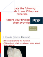 Classify Materials as Minerals