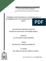 MODIFICACIÓN DE ZEOLITA CLINOPTILOLITA Y SU HIBRIDACIÓN CON PET