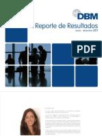 Brochure de Resultados DBM 2011