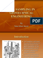 Soil Sampling in Geotechnical Engineering