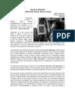 Presentación Libro Taller Al Desnudo de Mario Soto