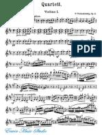 _______- Violin I Peter Ilyich Tchaikovsky, String Quartet No.1 in D Major, Op.11