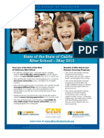 State of the State of California After School Programs, May 2012