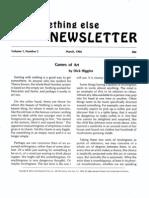 Something Else Press Newsletter V1N2