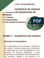 1.1 Modelos de Arquitectura de Computo