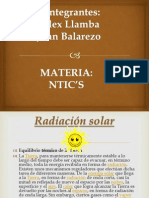 El lado Bueno Radiacion Solar