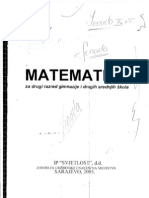Zbirka Zadataka Iz Matematike 2.Razred Srednje Skole