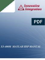 X5-400M Matlab BSP Manual