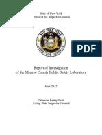 Monroe County Laboratory Report
