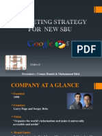 Marketing Strategy of Google