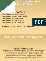 Advanced Computer Application
