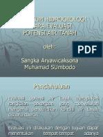 Evaluasi Potensi Air Tanah