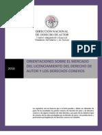 Circular Mercado Del Licenciamiento,Oct de 2010