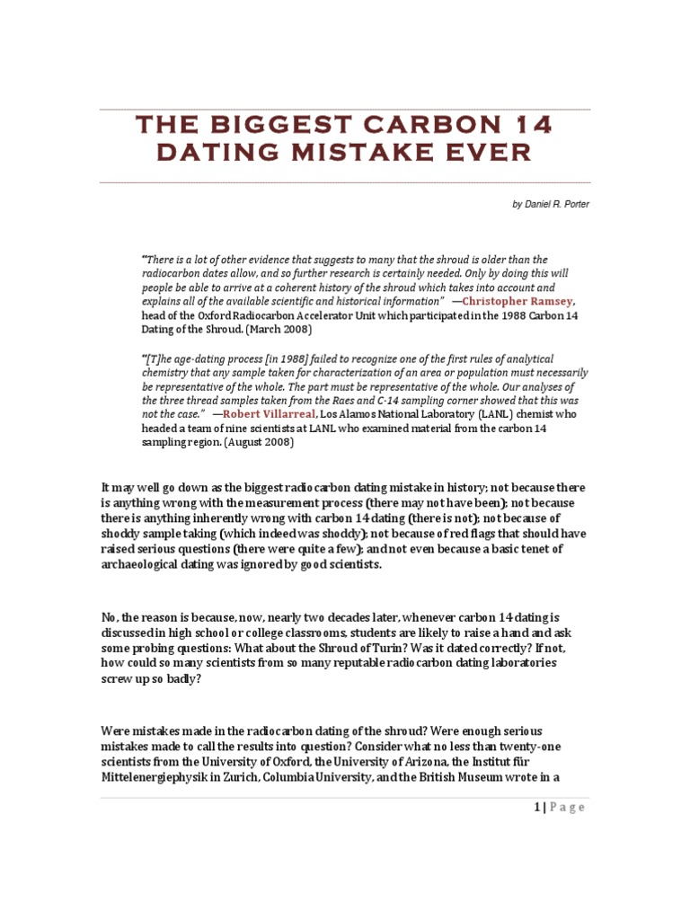 how to fake radiocarbon dating