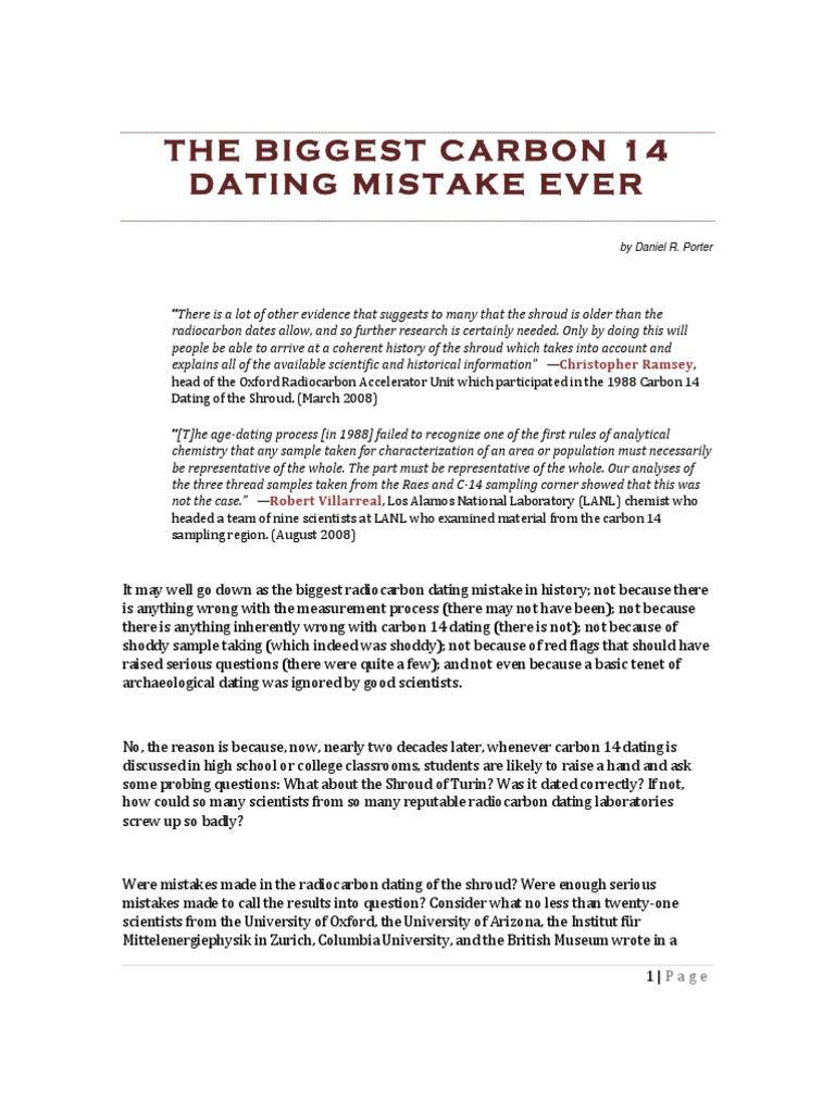 Carbon dating Labstoimimme kuten olemme vuodelta, mutta emme ole