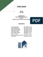 MGT 480 Term Paper