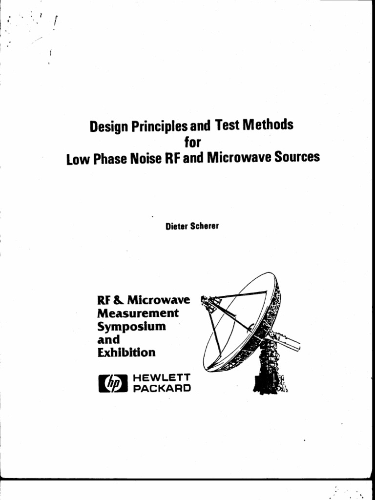 Design Principales and Test Methods for Low Phase Noise RF