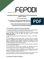 Edital Congresso Nacional Da FEPODI