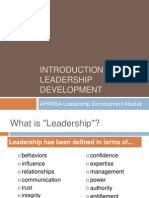 Introduction to Leadership Development1