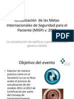 Actualización de las MISP