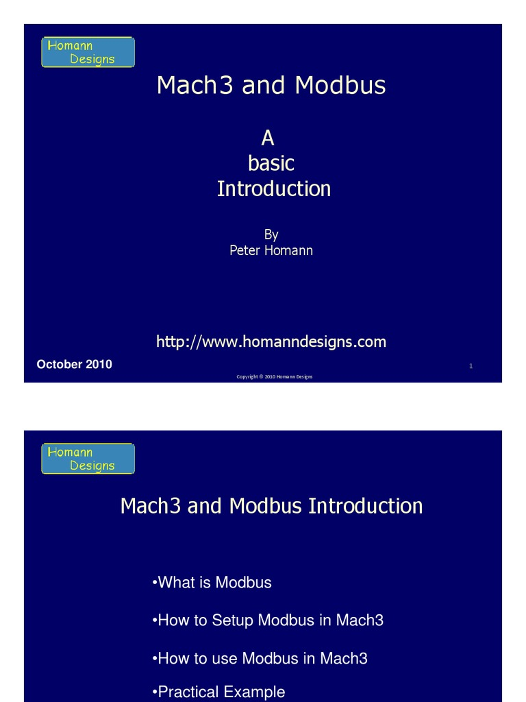 Mach3 and ModbusV1 | Input/Output | Media Technology