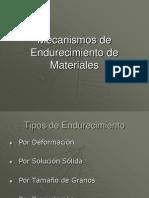 Mecanismos de Endurecimiento de Materiales