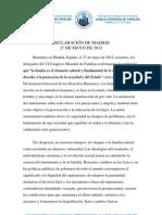 Declaración de Madrid 2012