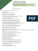 CalGIS 2012 Conference Proceedings