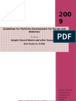 Guidelines for Port Dev 3rd Ed 2009 RECORD SHEETS-1