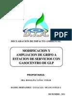 DIA Modificacion Ampliacion Grifo Gasocentro Manantial