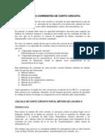 CÁLCULO DE LAS CORRIENTES DE CORTO CIRCUITO
