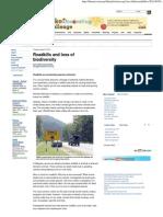 Roadkills and Loss of Biodiversity