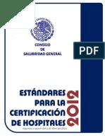 Estandares Certificación Hospitales 2012 OK