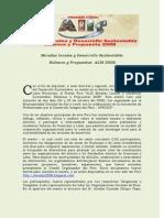 Miradas Locales y Desarrollo Sustentable _ Balance y Propuestas ALIS 2008