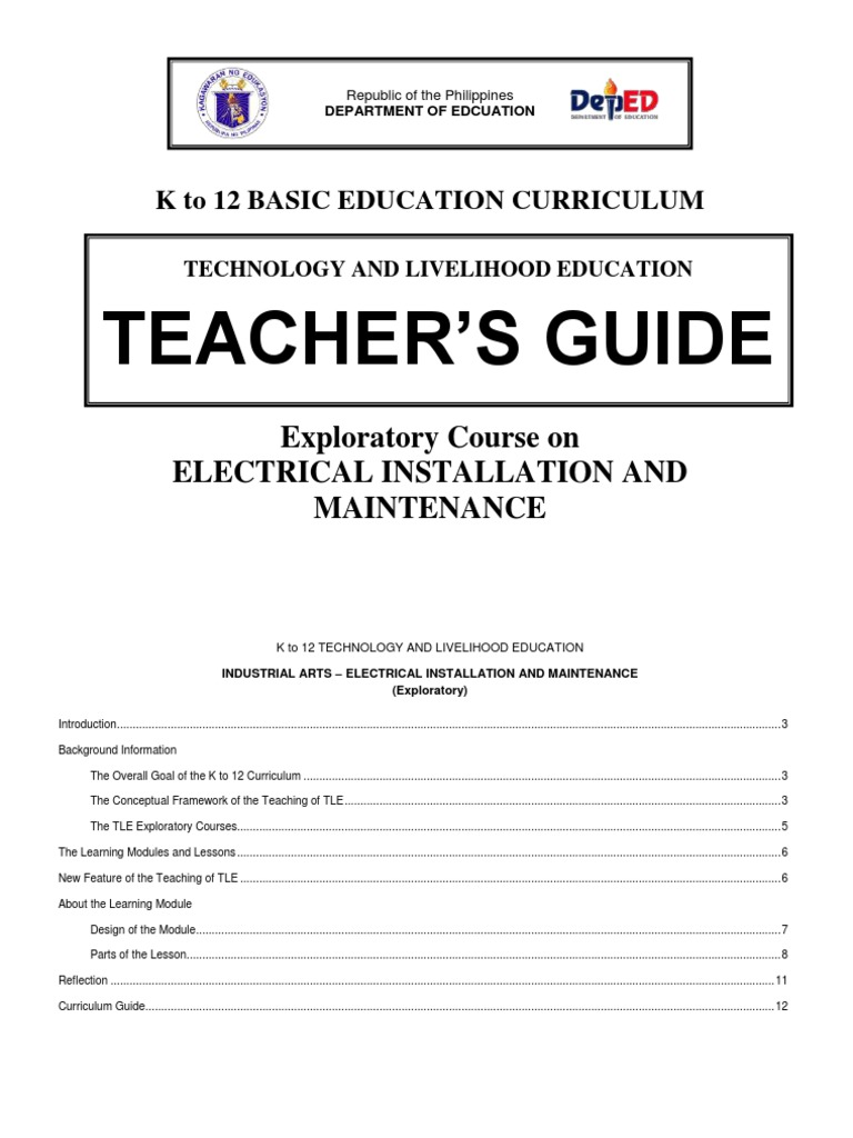 k to 12 Electrical Teacher\'s Guide   Occupational Safety And ...