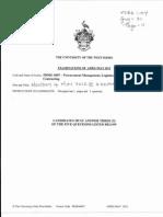 Prmg 6007 - Procurement Logistics and Contracting Uwi Exam Past Paper 2012