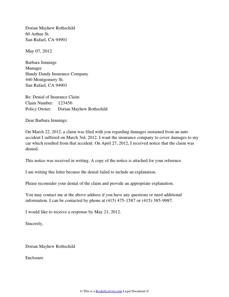 Letter Denying Claim For Damages from imgv2-1-f.scribdassets.com
