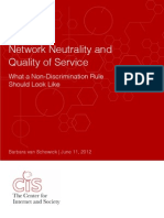 Network Neutrality and Quality of Service - Executive Summary