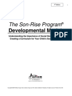 Son Rise Program Developmental Model