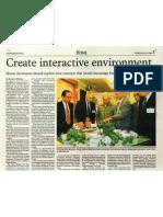 create  interactive enviroment