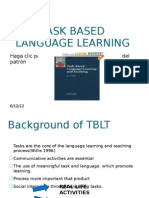 Task Based Language Learning