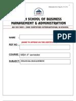 Finance Managment