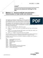 As 2300.1.1-2008 Methods of Chemical and Physical Testing for the Dairying Industry General Methods and Princ