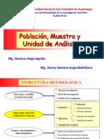 C 12 POBLACIÓN, MUESTRA Y UNIDAD DE ANÁLISIS