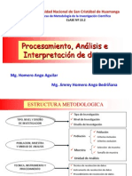 C 13.2 PROCESAMIENTO, ANÁLISIS E INTERPRETACIÓN DE DATOS