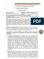 INFORME COORDINACION GENERAL AUCM MAYO 2012