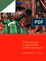 Directrices Para El Desarrollo Del Turismo Comunitario 2001