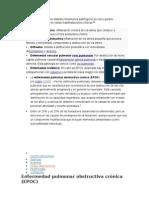 En la EPOC se producen distintos fenómenos patológicos en cinco puntos anatómicos