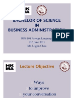 BSU BSc Bus Admin Lecture 2
